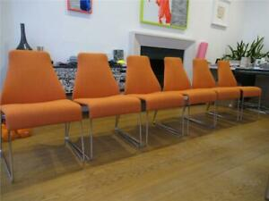 8 x Luxury Designer B&B Italia 'Lazy' Dining Chairs