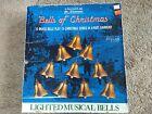 Vintage 1990 Mr. Christmas Bells Of Christmas 10 Brass  Light Bells 15 Songs