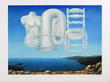 """RENE MAGRITTE Le Tombeau Des Lutteurs 19.5/"""" x 27.5/"""" Poster 2013 Surrealism"""