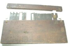 16 CUTTERS FOR COMB. PLANE W/ ORIG BOX; BRASS LATCHES & BRASS.NO SLOTS. SIEGLEY?