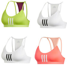 Adidas Womens Sports Bra 3 Stripes Mesh Bras Strappy Gym Running Yoga Size