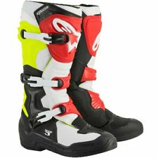 ALPINESTARS TECH 3 MOTOCROSS ENDURO BOOTS BLACK RED FLO YELLOW (RRP £199)