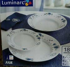 Piatti Serv. 18 Pz. Julie Luminarc Casalinghi Letizia ceramica
