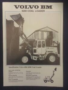Volvo BM 4200 Coal Loader Leaflet