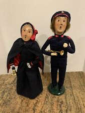 1993/1994 Byers Choice Ltd The Carolers Salvation Army Woman & Trumpet Man *READ