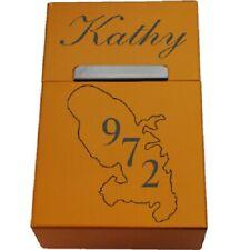 boite a cigarette or aluminium anodisé+Guadeloupe 972  + prénom au choix