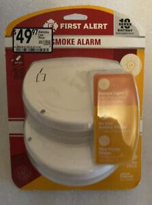 First Alert Smoke Detector Alarm Photoelectric Sensor 2-Pack