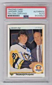 1990 Upper Deck Jaromir Jagr Penguins Signed Auto Rookie Card #356 PSA/DNA