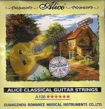 """10 X 1 único e 1st Guitarra Clásica Cuerdas de nylon duro 0285"""" tensión."""