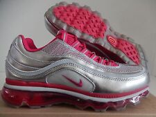 WMNS NIKE AIR MAX 24-7 2009 2013 WOLF GREY-VOLTAGE CHERRY SZ 8.5 [397292-007]