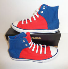 f855482bf Converse Niñas Damas Chuck Taylor All Star Azul Rojo Zapatillas Zapatos  Nuevos Talla 5