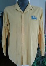 Vintage 80's Ocean Pacific Button Up Yellow Shirt Panama Crossroads Run 1986