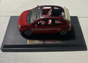 BURAGO FIAT CABRIOLET RED PRE/OWNED 1:24 BURAGO MISSING DRIVER SIDE INT/DR PANEL