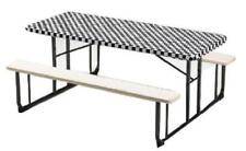 Creative Converting Plastic Stay Put Banquet Table Cover 30 By 96-Inch Black Che