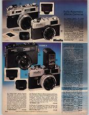 1977 PAPER AD 2 PG Minolta XE5 SRT-202 Canon FTb 35MM Camera Asahi Pentax KX