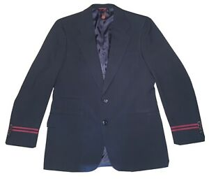 Vintage Mens Ralph Lauren TWA University Club Blazer Jacket 42L Navy with Red