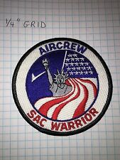 USAF Embroidered Patch - SAC Warrior Aircrew