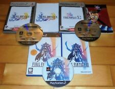 SONY PS2 X 3 FINAL FANTASY GAMES BUNDLE | X + X-2 + XII | COMPLETE TESTED PAL GC