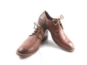 ARMANI JEANS AJ Men's Oxfords Brown Lace Up Dress Work Shoes Sz EU 45 US 12
