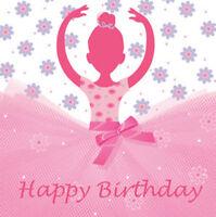 Ballerina TuTu Much Fun Luncheon Napkins - Birthday Party Supplies