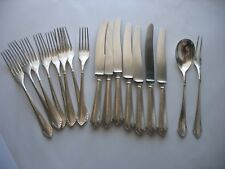 Kayser Art Nouveau Silver Plated Germany 17 pc set flatware Forks knives serving