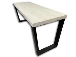 Bedroom Bench, Footboard - Bed Bench, Accent Bench, Heavy Duty Industrial Legs.