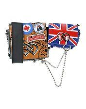 SALE! DSQUARED2 CROSS BODY LEATHER  SHOULDER HANDBAG BAG LONDON UK FLAG NEW