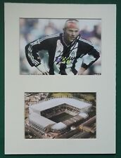 "ALAN SHEARER - NEWCASTLE UNITED 1996 - 2006  SIGNED MOUNTED DISPLAY 12""x 9"""