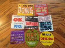 Fun liners Vending Machine Stickers Lot of 8 New