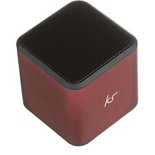 Kitsound Cube Wireless Bluetooth Mini Speaker - Universal Apple Android - Red