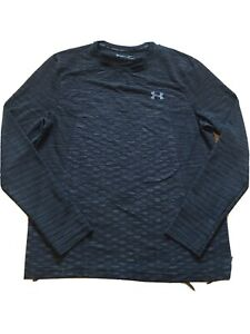 UNDER ARMOUR Heat Gear Fitted Long Sleeve Shirt Sz Large Gray