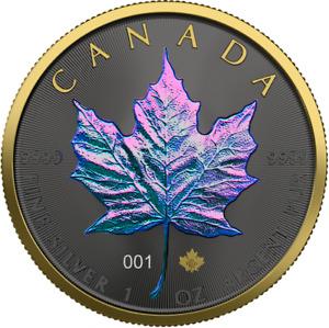 Canada 2020 5$ Maple Leaf - Chameleon - 1 Oz Silver Coin