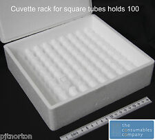100 Place Storage Box for 10mm Square Cuvettes vials test tube rack case PS