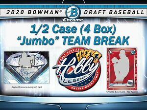 CHICAGO CUBS 2020 Bowman Draft Jumbo 1/2 Case (4 Box) TEAM break #2