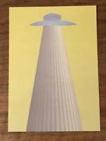 "Moniker Art Fair Suzanne Treister 7""x5"" Space Ship Alien Art Card Space 2018"