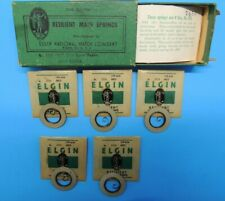 Elgin Resilient Watch Main Spring 1713 0s Watchmaker Repair Parts 5 ea & box Usa