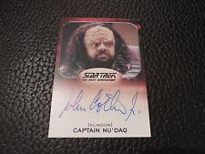 2014 Star Trek Aliens - John Cothran Jr. as Captain Nu'Daq Autograph Card