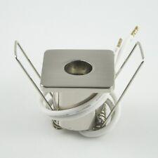 10x G4 Sternenhimmel Einbauspot Eisengebürstet 4-eckig Einbauleuchte viereckig