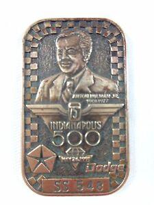 1991 Indianapolis 500 SS 548 Bronze Pit Badge Rick Mears 4x Marlboro Team Penske