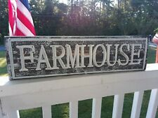 """Rustic Wood Distressed """"FARMHOUSE"""" Sign"""