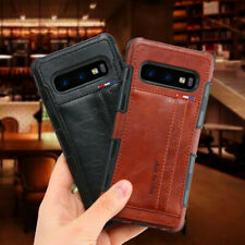 For Samsung Galaxy S20+ Note 10+ S10+ Leather Wallet Card Holder Back Case Cover