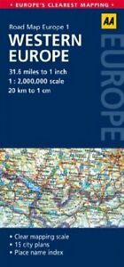 Road Map Western Europe (AA Road Map Europe 1) by AA Publishing Book The Cheap