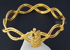 Tarsus Burmasi Bilezik 24 Karat Gold GP Armreif  Kelepce Altin Kaplama Mersin