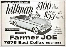 1960 Hillman Super Minx car Farmer Joe cars Denver Colorado art print ad   tv12