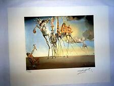 Salvador Dali Litografia 50 x 65 Bfk Rives Timbro a secco Firmata a Matita D179