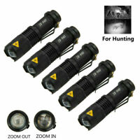T50 500 Yards Red LED Predator Hunting Flashlight Light Zoom Coyote Varmint Kit