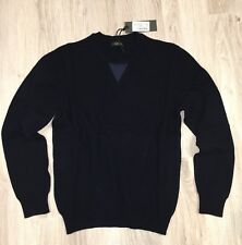 Z Zegna Men Jumper Cardigan Knit Pullover Sweater Blouse Wool Casual Size L