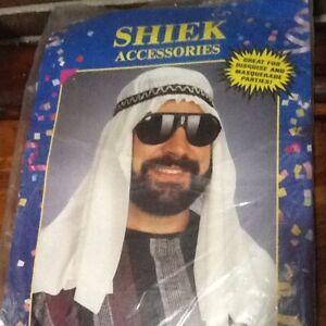 Sheik Hat Sultan Costume Turban Headdress with Elastic Headband OSFA NEW NIP
