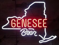 "New Genesee Beer Rochester Open Beer Bar Neon Light Sign 24""x20"""