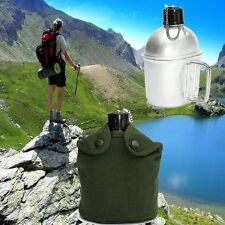 Water Canteen Military Aluminum with Cup G.I. Army Green Nylon Canteen Cover